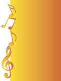 Music notes. Stack of music symbols on gradient background Royalty Free Stock Images