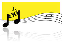 Music notes. Waves with shadows Royalty Free Stock Photography