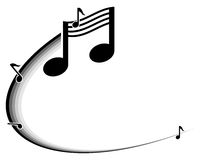 Music notes. Black and white illustration of music notes Royalty Free Stock Images