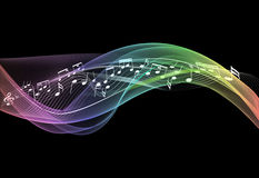 Music notes on abstract background . Royalty Free Stock Photography
