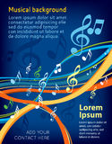 Music notes. On a abstract colorful background royalty free illustration