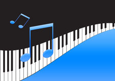 Music Notes And Piano Keyboard Stock Photo