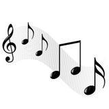 Music notes background. Music notes illustration isolated on white background Stock Images
