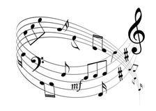 Music notes background. Music notes illustration isolated on white background Royalty Free Stock Images