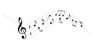 Music notes  background. Music notes backgrounds on white Royalty Free Stock Photography