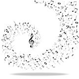 Music notes background Stock Photo