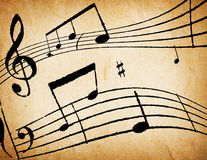 Music Notes Background Royalty Free Stock Photos