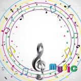 Music notes  background Stock Image