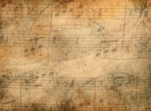 Music notes background. Vintage retro music notes background vector illustration