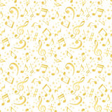 Music notes background. Background of decorative musical notes Royalty Free Stock Photography