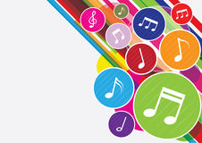 Music notes background. Colorful music notes background design Royalty Free Stock Photography