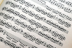 Music notes background. View with Vintage music notes background Royalty Free Stock Image