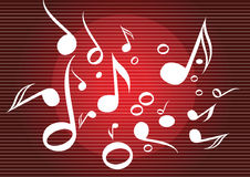 Music notes background Stock Photo