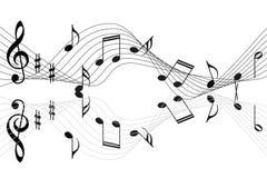 Music notes background. Music notes illustration isolated on white background Stock Photography