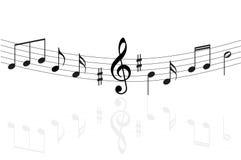 Music notes background. Music notes illustration isolated on white background Royalty Free Stock Photography