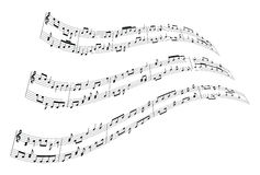 Music notes background Stock Images