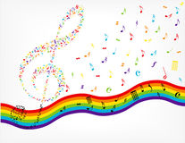 Music notes background stock photos