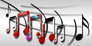Music notes. Background with colored music notes Royalty Free Stock Photo