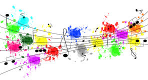 Music Notes. Background design with Collection of different music notes royalty free illustration