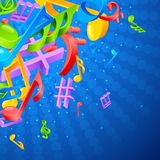 Music Notes Background Royalty Free Stock Images