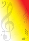 Music Notes Background stock illustration