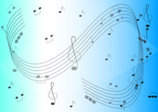 Music Notes Background. Illustration design with music related signs Royalty Free Stock Image