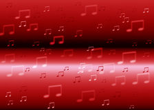 Music notes  background. Music notes red  color background Stock Photography