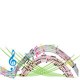 Music notes background, stylish musical theme composition, vecto Stock Photo
