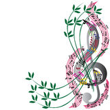 Music notes background, stylish musical theme composition, vecto Stock Photos