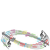 Music notes background, stylish musical theme composition, vecto Stock Photography