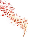 Music notes banner Stock Photography