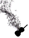 Music notes banner Stock Image