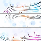 Music Notes Banners Royalty Free Stock Photography
