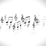 Music Notes Black aND wHITE Background Stock Images