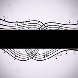 Music Notes Black and White Background Stock Photos