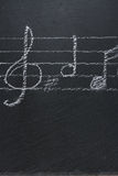 Music notes on black Royalty Free Stock Image