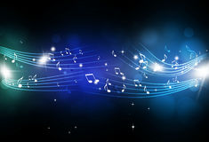 Music Notes Blue Background Royalty Free Stock Photo