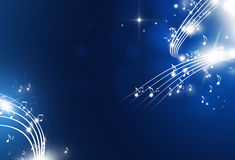 Music Notes Blue Background Stock Images