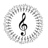 Music notes boder Royalty Free Stock Photography
