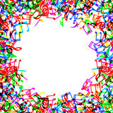 Music notes border frame Royalty Free Stock Images