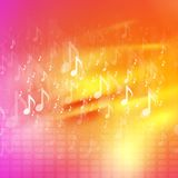 Music notes bright abstract background Stock Photos