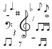 Music notes chaos Stock Photography