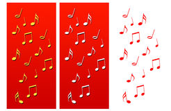 Music Notes Christmas Compositions. There are some music notes christmas Compositions. Various colors Royalty Free Illustration