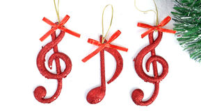 Music notes, Christmas  Scene, Decoration Royalty Free Stock Images