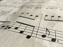 Music Notes Classical Sheet Music Royalty Free Stock Photos