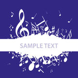 Music Notes Clef Royalty Free Stock Photography