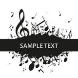 Music Notes Clef Stock Photo