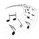 Music Notes Clef Stock Images