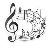 Music Notes Clef Stock Image