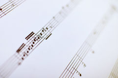 Music notes, close up Royalty Free Stock Photo
